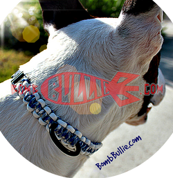 Paracord Classic Dog Collar - Cobra Knot - BombBullie  - 1