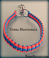 Paracord Martingale Dog Collar - Cobra Knot - BombBullie  - 1