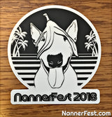 X - Nannerfest 2018 80's Themed Vinyl Stickers