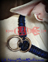 Paracord Training Dog Collar - Cobra Knot - BombBullie  - 1