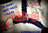 Paracord Training Dog Collar - Cobra Knot - BombBullie  - 3