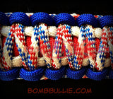 Paracord Classic Dog Collar - King Cobra Knot - BombBullie  - 3