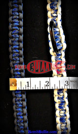 Paracord Training Dog Collar - Cobra Knot - BombBullie  - 4