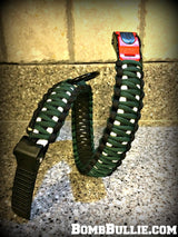 Paracord Adjustable Dog Collar - King Cobra Knot - BombBullie  - 19