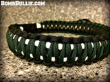 Paracord Adjustable Dog Collar - King Cobra Knot - BombBullie  - 23