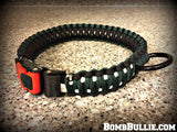 Paracord Adjustable Dog Collar - King Cobra Knot - BombBullie  - 15