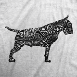 Bull Terrier Body of Words T-Shirt | Black Logo - BombBullie  - 5