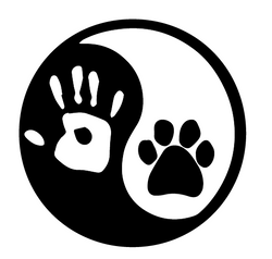 Yin & Yang - Dog Paw and Human Hand Decal - BombBullie