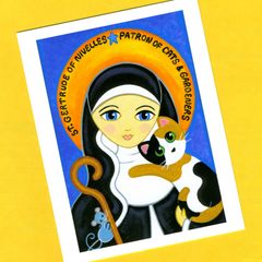 Saint Gertrude Folk Art