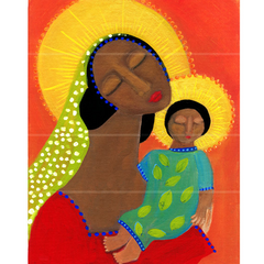 Folk Art Black Madonna