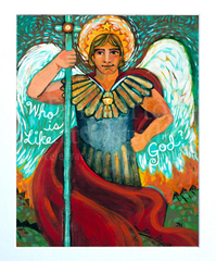 Folk Art Saint Michael