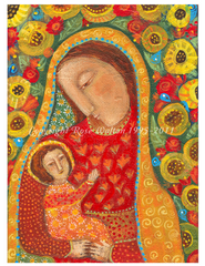 Mother and Child Folk Art