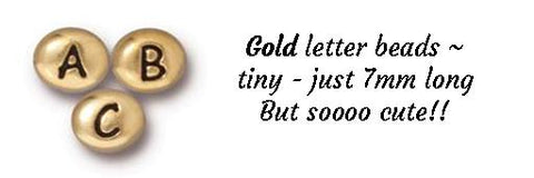 Gold personalize letter beads