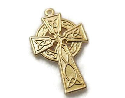 Gold plated Celtic cross