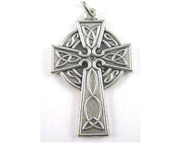 Celtic Cross, Silver Pewter