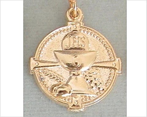 First Holy Communion Medal, Gold-Plated