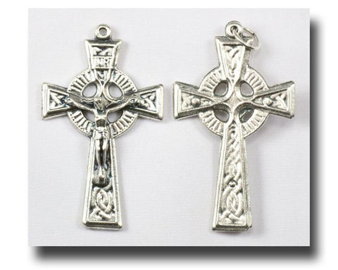 Celtic Crucifix, Silver Pewter