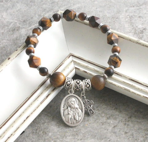 St Peter & St Paul Bracelet, Stretch Christian Saints Jewellery