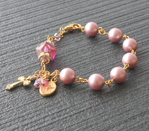 Holy Family Holy Spirit Christian bracelet, Anglican jewellery from New Zealand