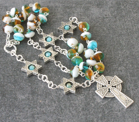 Anglican Rosary, Star Beads & Celtic Cross