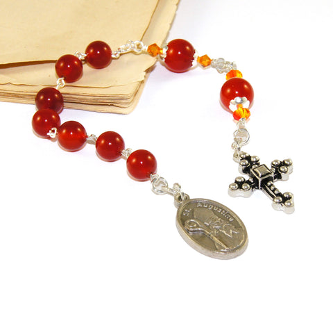 St Augustine Christian Chaplet Prayer Beads, Small Anglican Pocket Rosary