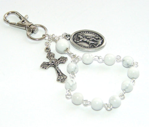 Saint Michael Clip-On Travel Rosary