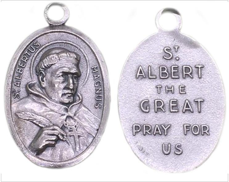 Albert the great patron saint medal, Albertus Magnus