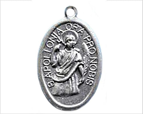 St Apollonia Medal, Patron Saint of Denistry, Toothache