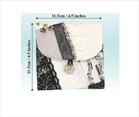 Rosary Pouch, Crazy Quilt Patchwork Handmade Purse