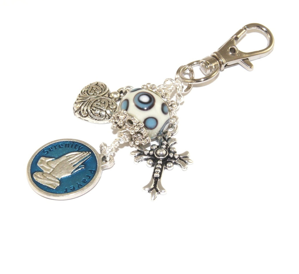 Serenity Prayer Clip, Bag Charm