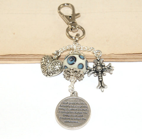 Serenity Prayer Key Ring or Bag Clip