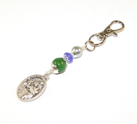 St Christopher Travel Gift, Clip On Medal