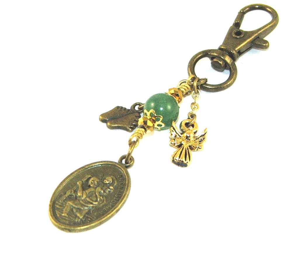 Saint Christopher clip, travel farewell gift