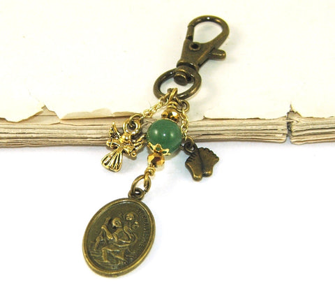 New Zealand St Christopher medal clip on charm bon voyage