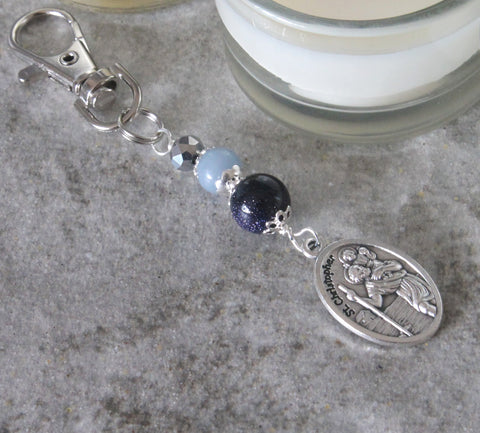 Saint Christopher clip, travel charm