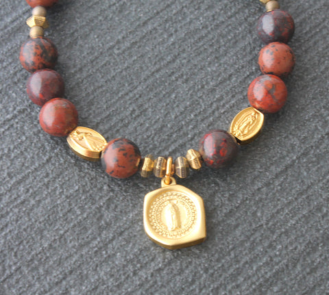Jasper religious bracelet, Catholic shop New Zealand