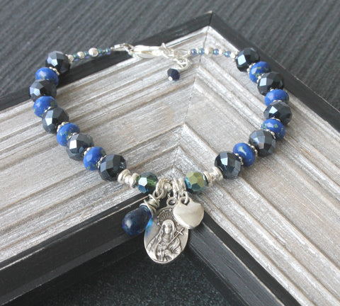 Catholic woman's Easter bracelet, Our Lady of Sorrows