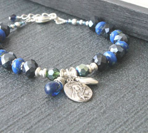 Our Lady of 7 Sorrows Catholic bracelet New Zealand made