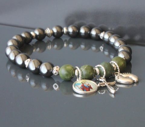 St Christopher Stretch Bracelet, Farewell or Traveller's Gift