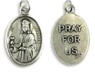 St Barbara Medal - Patron Saint of Miners, Mathematicians and Explosive Workers