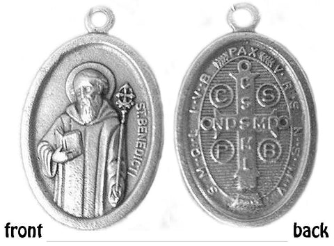 St Benedict of Hippo, Oval Medal