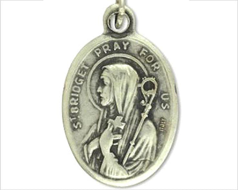 St Brigid ( Bridget ) Medal, Catholic Irish Saint