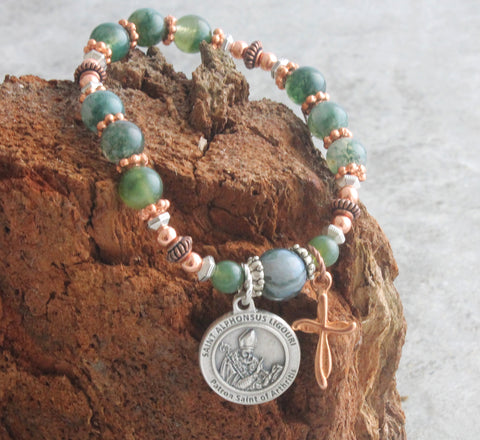 Saint Alphonsus bracelet, chaplet prayers, New Zealand made