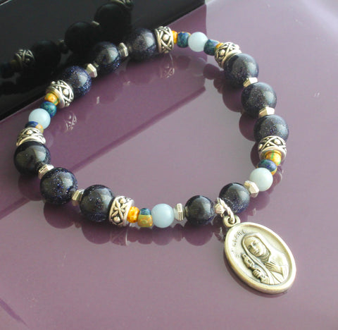 St Clare Prayer Chaplet Bracelet - A Rosary for the Wrist