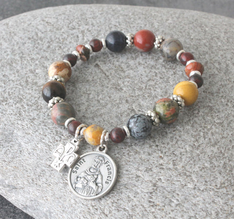 St Francis of Assisi Chaplet Prayer Bracelet