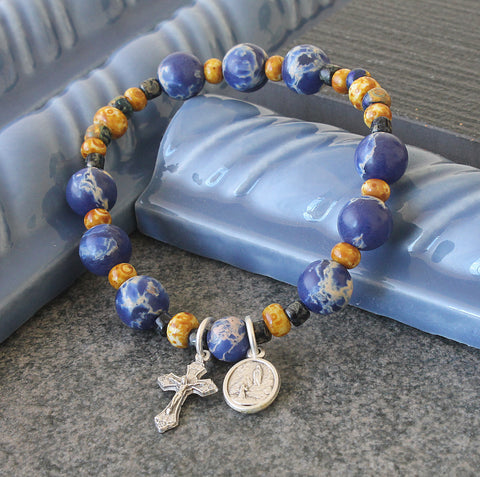 St Bernadette & Our Lady of Lourdes Chaplet Prayer Bracelet