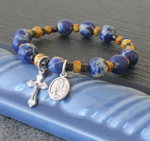 Our Lady of Lourdes prayer bracelet wearable rosary