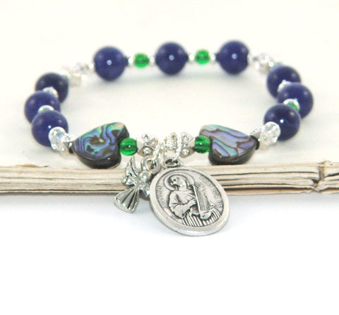 Catholic patron saint stretch bracelet