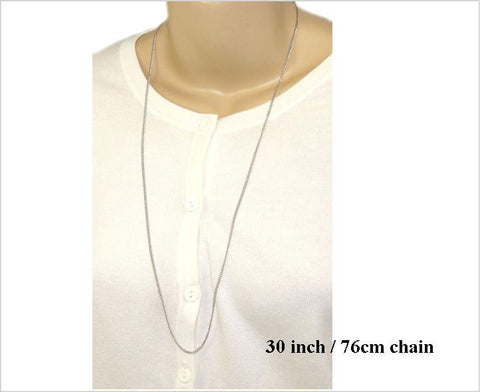 Stainless Steel Chain, 76cm, 1.7mm Fine Curb Chain