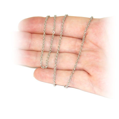 Stainless Steel Chain, 40cm, with clasp - 2.2mm links